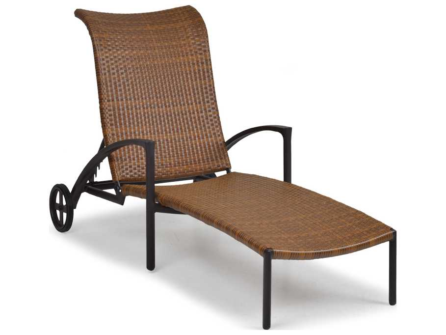 Palm springs rattan aluminum 3200 series chaise lounge ps3209 - Chaise aluminium bistro ...