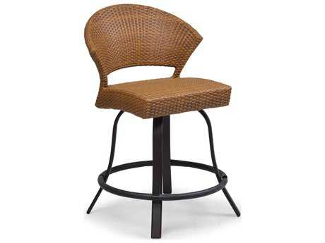 Palm Springs Rattan Aluminum 3200 Series Armless Swivel Counter Stool PS3224
