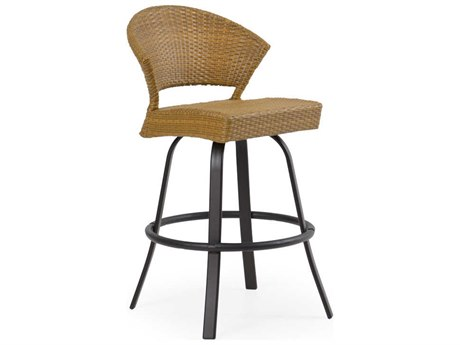 Palm Springs Rattan Aluminum 3200 Series Armless Swivel Bar Stool