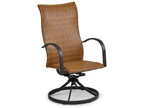 Palm Springs Rattan Aluminum 3200 Series High Back Swivel Tilt Dining Chair