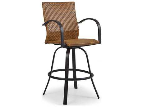 Palm Springs Rattan Aluminum 3200 Series Swivel Bar Stool w/ Arms