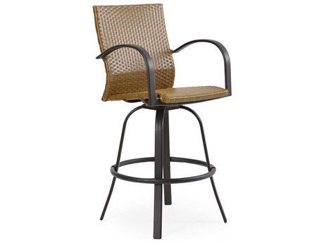 Palm Springs Rattan Cape Town Aluminum Swivel Bar Stool PatioLiving