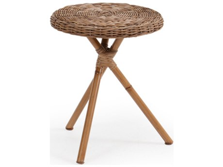 Palm Springs Rattan 4000 Series Wicker 16 Round Side Table