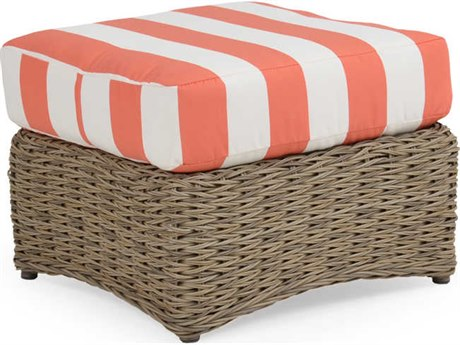Palm Springs Rattan 4300 Series Rectangle Ottoman w/ Cushion
