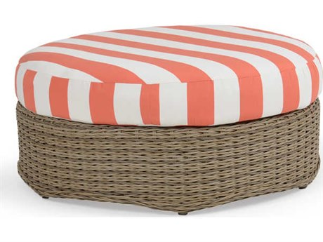 Palm Springs Rattan 4300 Series Round Ottoman w/ Cushion