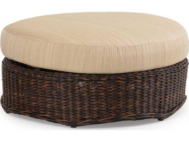 Palm Springs Rattan 4300 Series Round Ottoman W Cushion