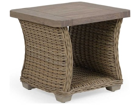 Palm Springs Rattan 4300 Series 21 x 23.25 Square Sequoia End Table