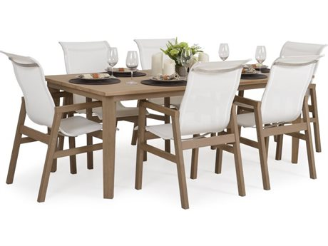 Palm Springs Rattan 5200 Series Teak Dining Set