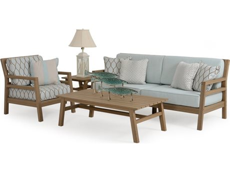 Palm Springs Rattan 5200 Series Teak Lounge Set