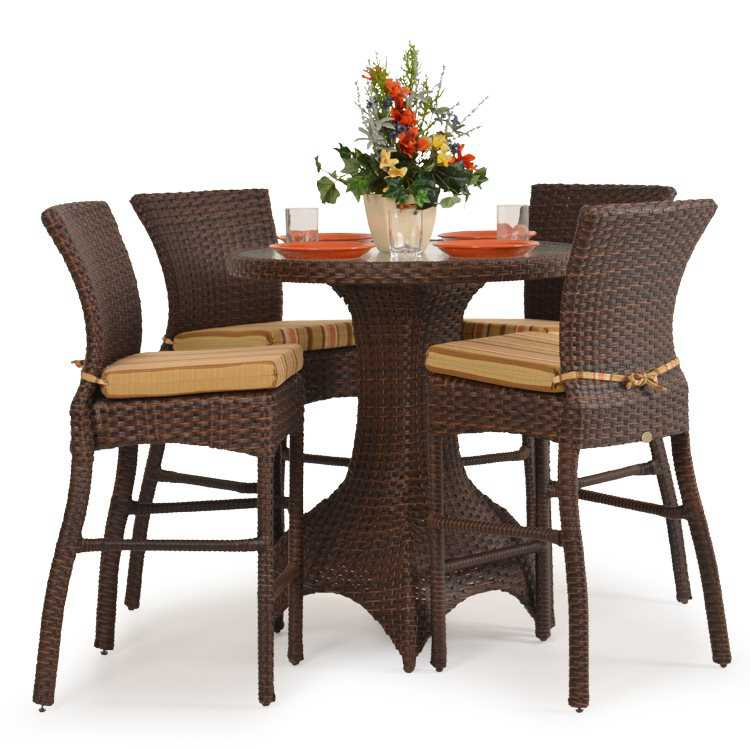 Palm Springs Rattan 6000 Series Bar Height Stool W