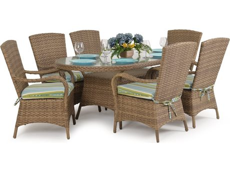 Palm Springs Rattan Alexandria Wicker Dining Set