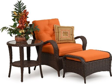 Palm Springs Rattan 6000 Series Conversation Cushion Patio Wicker Lounge Set
