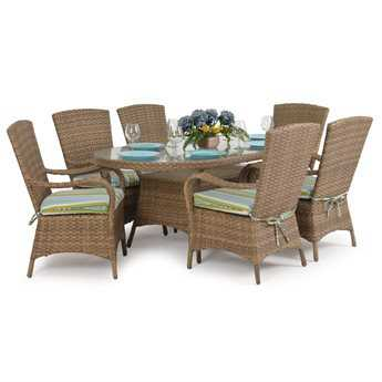 Palm Springs Rattan 6000 Series Dining Set PS6000SET6