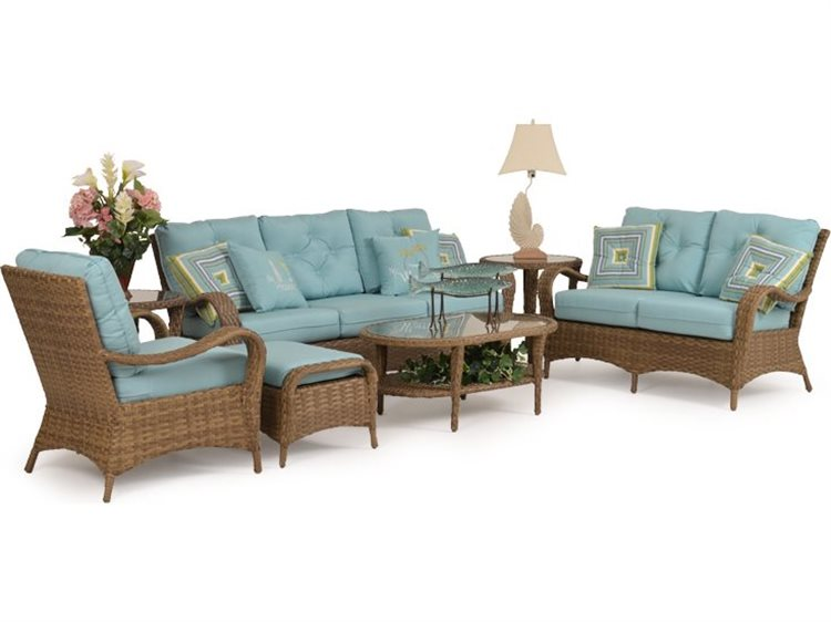 Palm Springs Rattan Alexandria Wicker Lounge Set PatioLiving