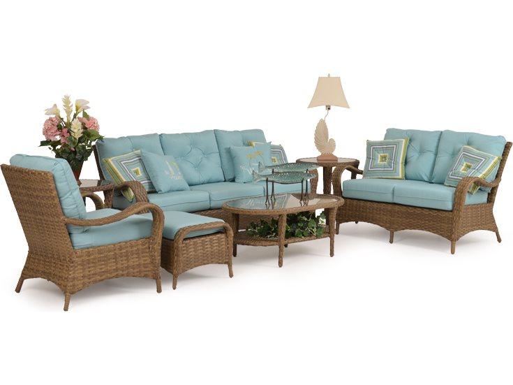 Spotlight On Palm Springs Style Outdoor Areas: Palm Springs Rattan 6000 Series Ottoman W/ Cushion