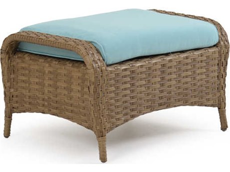 Palm Springs Rattan 6000 Series Ottoman w/ Cushion PatioLiving