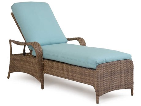 Palm Springs Rattan 6000 Series Chaise Lounge w/ Cushion PatioLiving