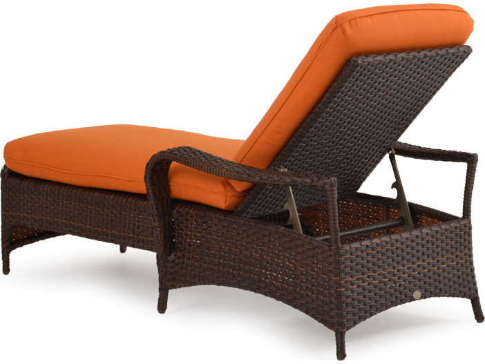 Palm springs rattan 6000 series chaise lounge w cushion for Chaise serie 7