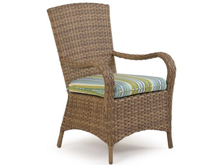 Palm Springs Rattan 6000 Series Dining Arm Chair w/ Seat Cushion PatioLiving