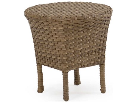 Palm Springs Rattan 6000 Series 18 Round  Tea Table w/ Woven Top PatioLiving