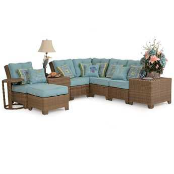 Palm Springs Rattan Sectional Set