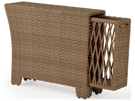 Palm Springs Rattan Seaside Wicker Storage Arm Wedge PatioLiving