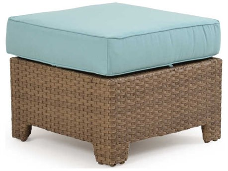 Palm Springs Rattan Seaside Wicker Ottoman PatioLiving