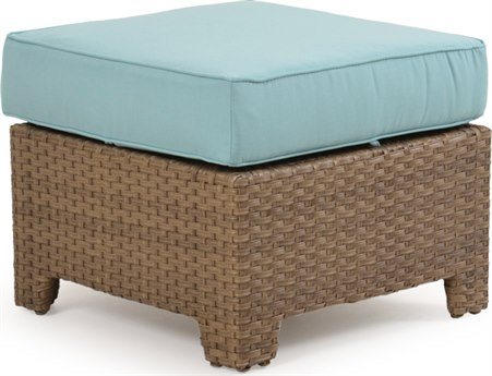 Palm Springs Rattan 6300 Series Storage Ottoman for Sectional Replacement Cushions PS6308CH