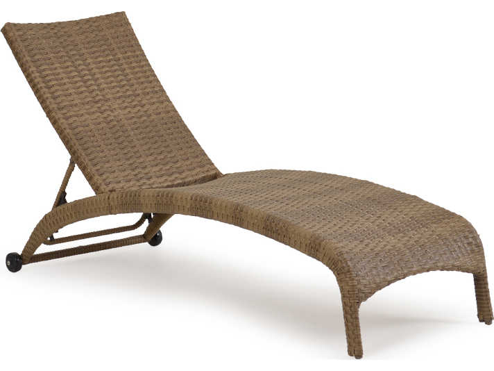 Palm springs rattan 6300 series armless chaise lounge ps6309 for Bamboo chaise lounge