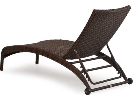 Palm springs rattan 6300 series armless chaise lounge ps6309 for Armless chaise longue