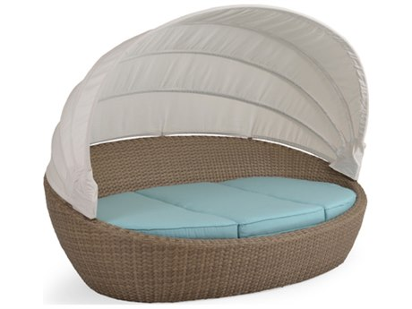 Palm Springs Rattan 6300 Series Day Chaise with Canopy Replacement Cushions