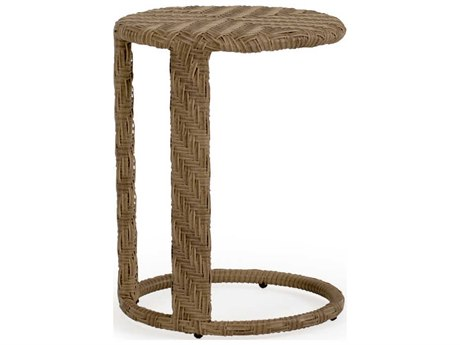 Palm Springs Rattan 6300 Series 24 x 18 Round  Tea Table PatioLiving