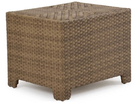 Palm Springs Rattan 6300 Series 22 x 23.5 Rectangular  Storage End Table for Sectional