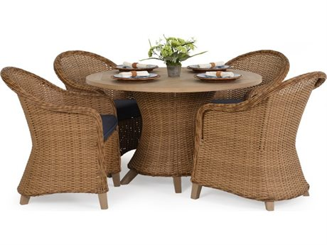 Palm Springs Rattan 6500 Series Wicker Dining Set