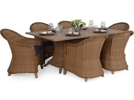 Palm Springs Rattan 6500 Series Wicker Dining Set PS6500SET3