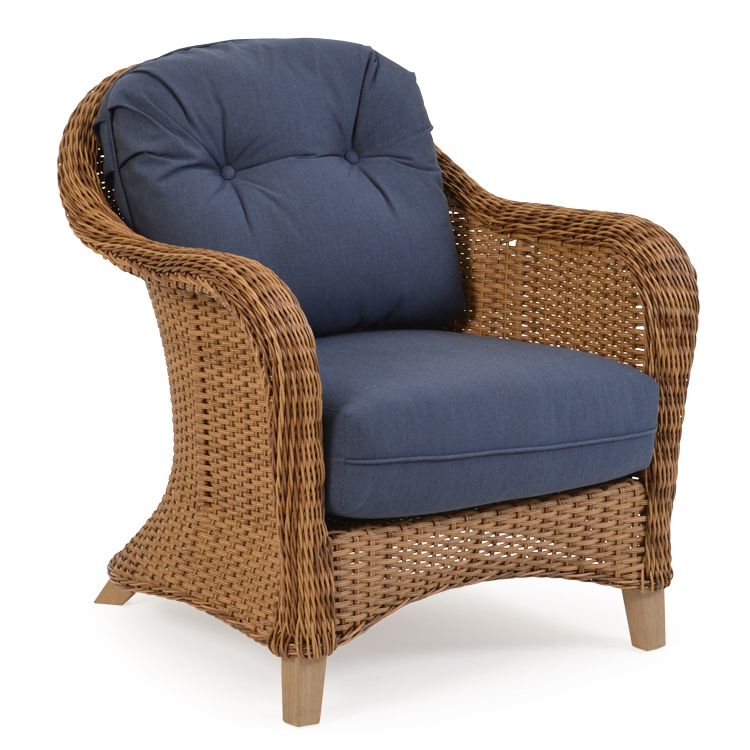 Palm springs rattan 6500 series deep seating lounge chair - Deep seat patio cushions replacements ...