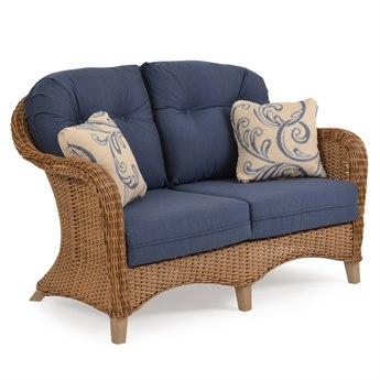 Palm Springs Rattan 6500 Series Wicker Deep Seating Loveseat