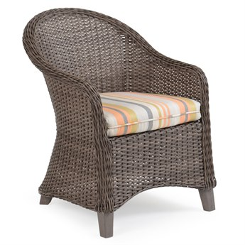 Palm Springs Rattan 6500 Series Wicker Dining Arm Chair with Seat Cushion
