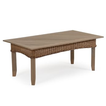 Palm Springs Rattan 6500 Series Wicker 44.5 x 24 Rectangle Cocktail