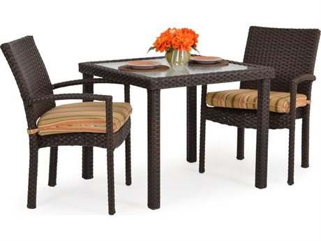 Palm Springs Rattan 6600 Series Wicker Casual Patio Dining Set PS6600SET1