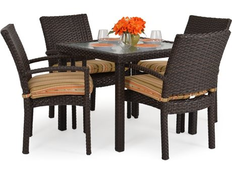 Palm Springs Rattan 6600 Series Wicker Dining Set