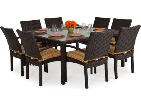 Palm Springs Rattan 6600 Series Wicker Dining Set PS6600SET4