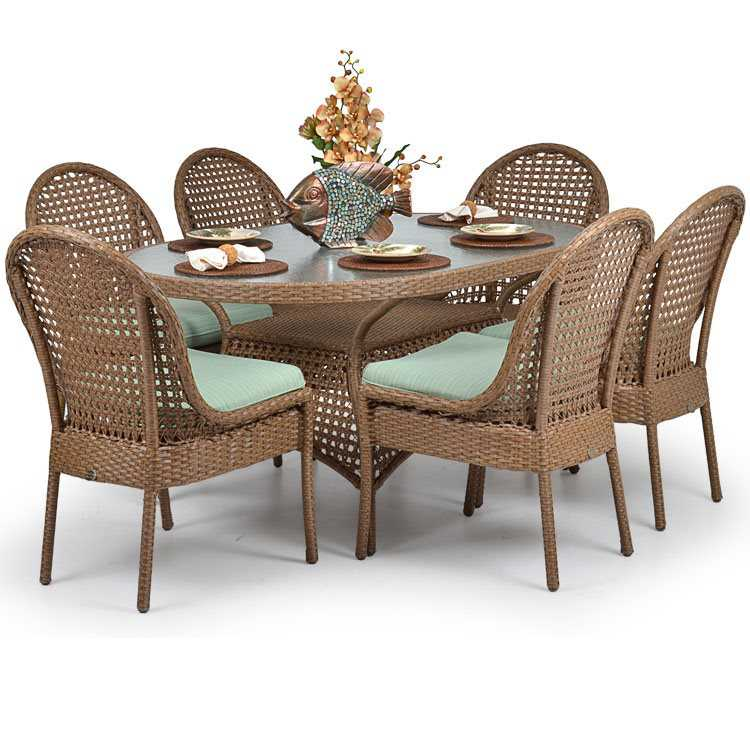 Palm Springs Rattan 6700 Series 28 5 X 40 Oval Dining