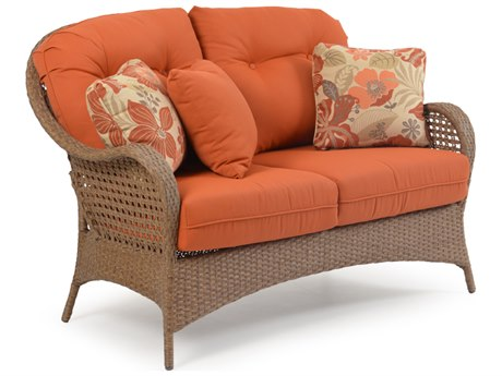 Palm Springs Rattan 6700 Series Deep Seating Loveseat Replacement Cushions PS6702CH