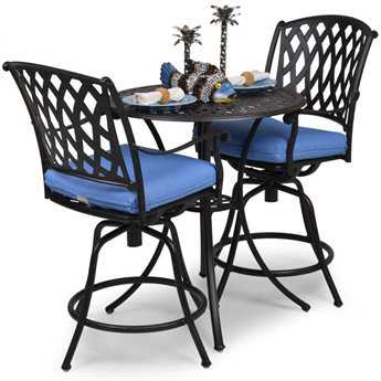 Palm Springs Rattan Cast Aluminum 7100 Series Counter Height Set PS7100SET1