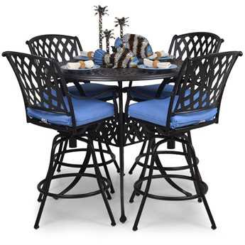Palm Springs Rattan Cast Aluminum 7100 Series Bar Set