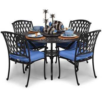 Palm Springs Rattan Cast Aluminum 7100 Series Dining Set PatioLiving