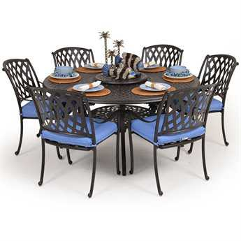 Palm Springs Rattan Cast Aluminum 7100 Series Dining Set PS7100SET5