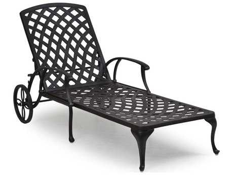 Palm Springs Rattan Cast Aluminum 7100 Series Chaise Lounge w/ Cushion