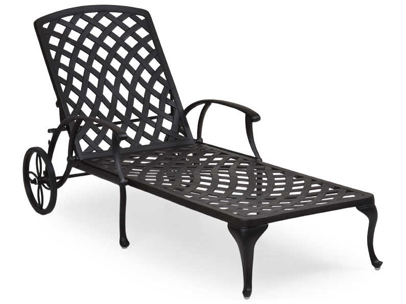 palm springs rattan cast aluminum 7100 series chaise lounge w cushion ps7109. Black Bedroom Furniture Sets. Home Design Ideas